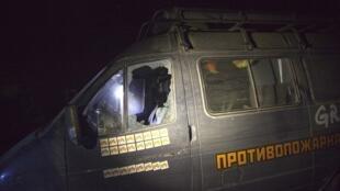 Автомобиль добровольцев «Гринпис» после нападения на лагерь в Краснодарском крае
