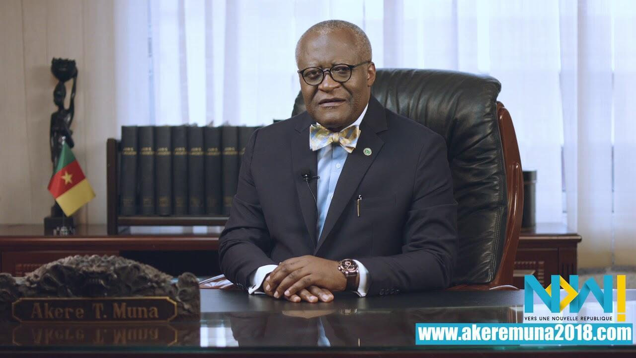 Akere Muna says he's running for president to ensure that all Cameroonians are treated equally.