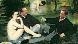 """""""Завтрак на траве"""" Эдуарда Мане, обыгранный изданием The Economist"""