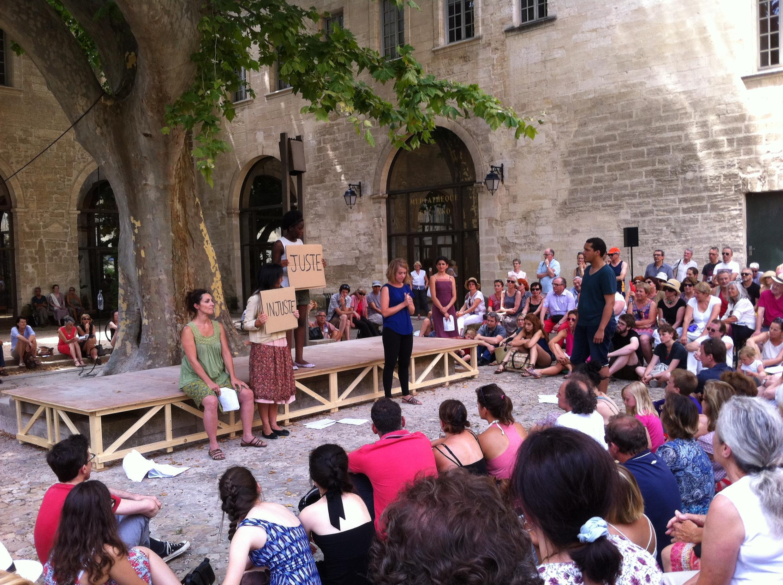 Plato's The Republic, in the Ceccano Garden at the Avignon Festival, July  2015