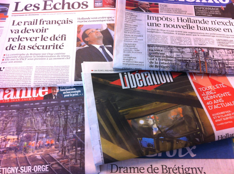 Capas dos diários de 15-07-2013