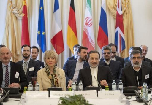 نشست کمیسیون مشترک برجام در وین به ریاست عباس عراقچی، معاون وزیر امور خارجۀ ایران، و هلگا اشمیت، معاون رئیس دیپلماسی اتحادیۀ اروپا - ٢٨ ژوئن ٢٠١٩