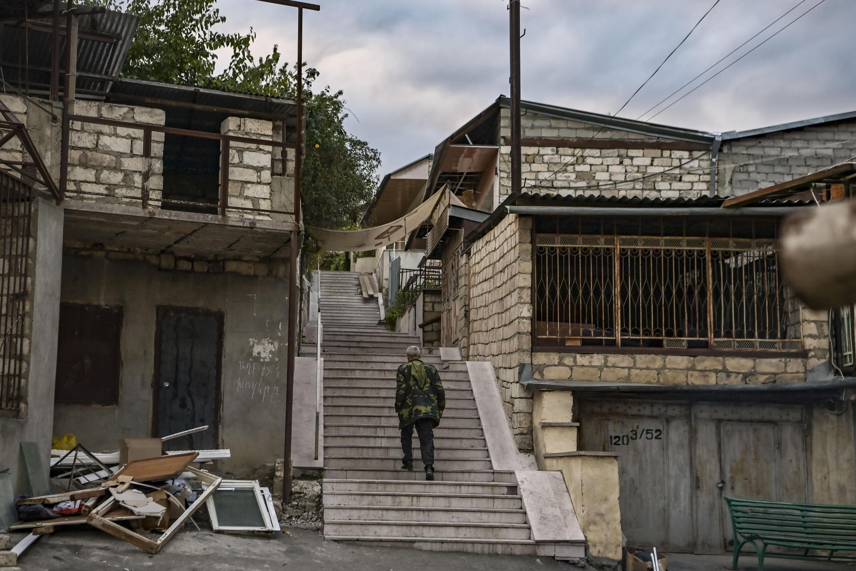 Столица непризнанной Нагорно-Карабахской Республики Степанакерт, 10 октября 2020