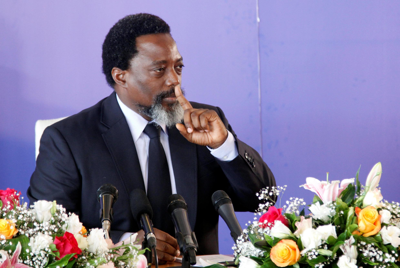 O presidente da RDC, Joseph Kabila, a 26 de Janeiro de 2018 em Kinshasa.
