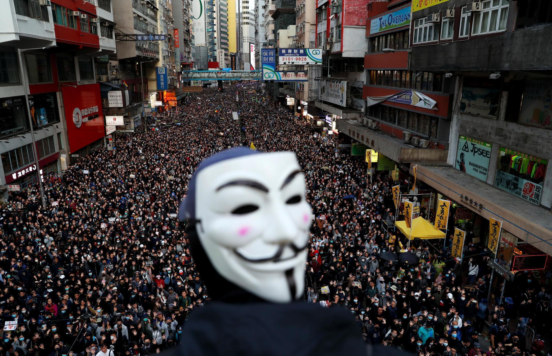 Biểu tình rầm rộ với cả triệu người ở Hồng Kông, ngày 08/12/2019.