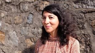 Valérie Cachard, lauréate de la 6e édition du Prix RFI Théâtre pour « Victoria K, Delphine Seyrig et moi ou la petite chaise jaune », décerné au festival des Francophonies, Les Zébrures d'automne, à Limoges.