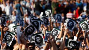 Cerimônia homenageia Che Guevara em Santa Clara, em Cuba, em 8 de outubro de 2017.