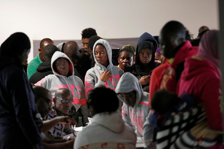 Wasu 'yan gudun hijirar Cote d'Ivoire da suka sami mafaka a Libya.
