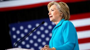 Hillary Clinton, lors d'un rassemblement à Reno dans le Nevada, le 25 août 2016.