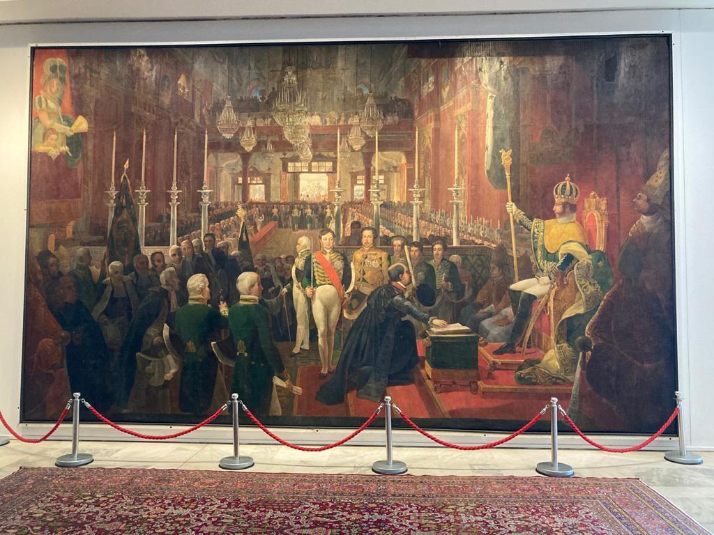 """Quadro """"A Coroação de D. Pedro I"""", de Jean-Baptiste Debret."""