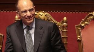 Enrico Letta, Premier ministre italien, lors du vote de confiance organisé au Sénat, ce mercredi 2 octobre.