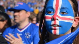 Icelandic supporters during last night's clash with France