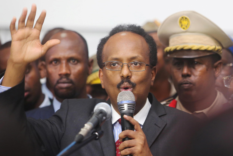 Mohamed Abdullahi Farmajo, élu président de la Somalie, le 8 février 2017.