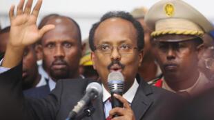 Mohamed Abdullahi Farmajo, ici en février 2017.