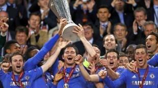 Victoire de Chelsea sur Benfica, le 15 mai 2013.