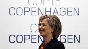 La secrétaire d'Etat américaine Hillary Clinton au sommet de Copenhague le 17 décembre 2009.