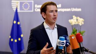 奧地利總理庫爾茲輪值歐盟主席2018年6月29日布魯塞爾
