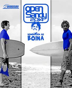 Cartaz da nona edição Open Sandy, competição de surf e body-borard no Mindelo