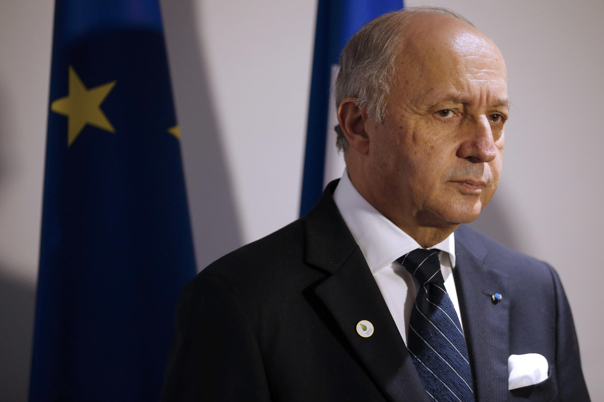 French Foreign Affairs Minister Laurent Fabius, the President-designate of COP21, attends a press conference during the World Climate Change Conference 2015 (COP21) at Le Bourget, near Paris, France, December 4, 2015.