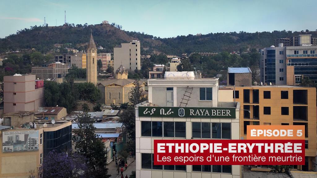 Vue de Mekele, en Ethiopie.