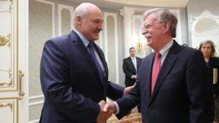 Александр Лукашенко и Джон Болтон, Минск, 29 августа 2019 г.