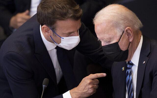 Shugaban Faransa Emmanuel Macron da Joe Biden na Amurka