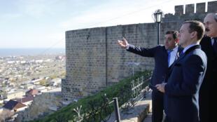 La citadelle de Derbent dans la République du Daguestan (Caucase russe) est un lieu touristique connu. Le Premier ministre russe Dimitri Medvedev (photo) s'y était rendu en novembre dernier.