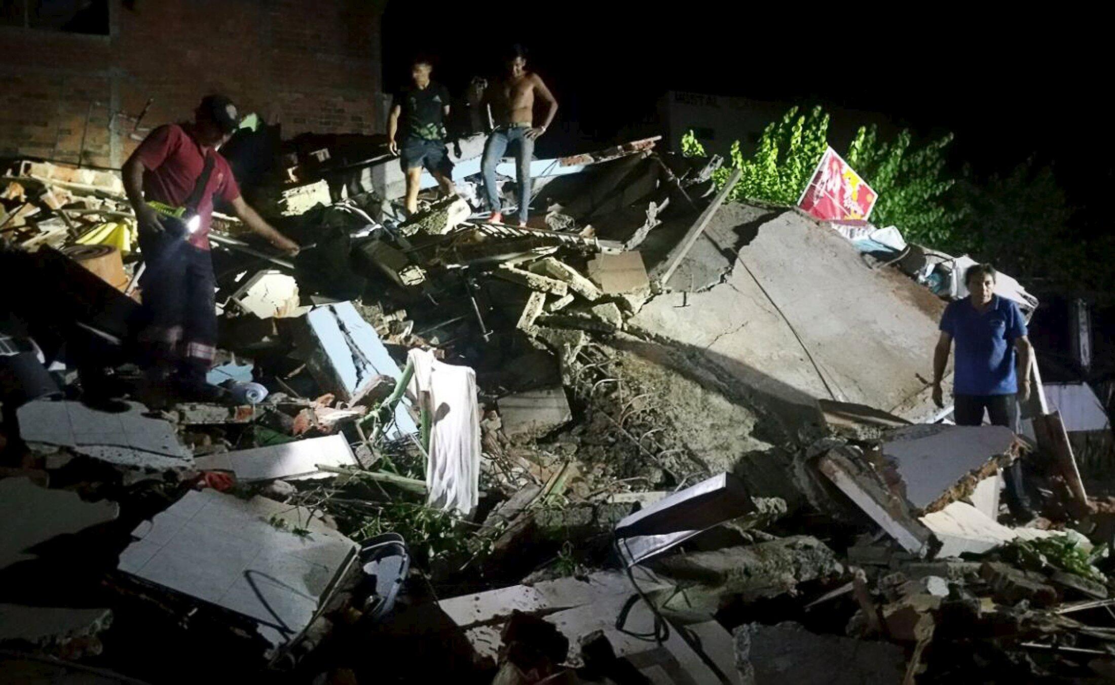 Estragos causados pelo terremoto que atingiu o Equador, na semana passada.