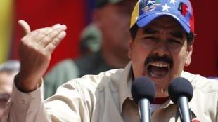Vice-presidente da Venezuela, Nicolás Maduro, durante evento na última quarta-feira.
