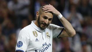 Karim Benzema lors du quart de finale de la Ligue des champions face au Bayern Munich.
