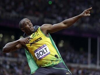 Usain Bolt sagrou-se campeão do mundo nos 100 metros