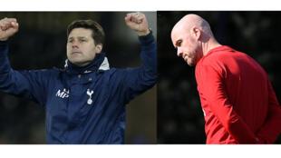 Maurizio Pochettino (entraîneur de Tottenham) et Erik Ten Hag (entraîneur de l'Ajax).