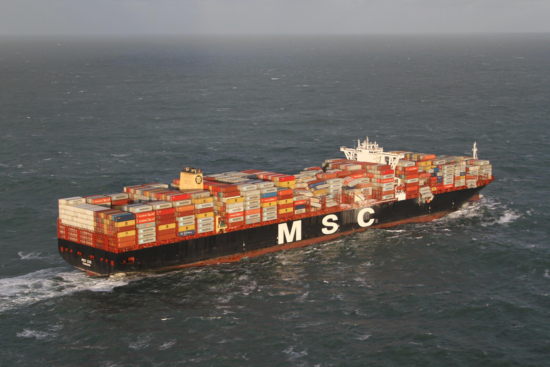 Судно итальянской компании MSC