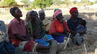 Women in a village in Zambia