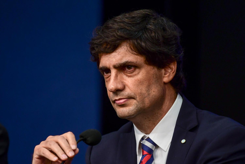 O ministro da Fazenda argentino, Hernán Lacunza, anunciou o pedido de moratória durante coletiva de imprensa em Buenos Aires, nessa quarta-feira 28 de agosto de 2019.