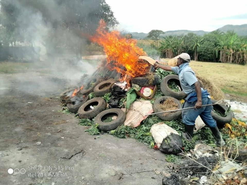 Police burn food vendors' produce in Mutare, Zimbabwe where food insecurity is an issue