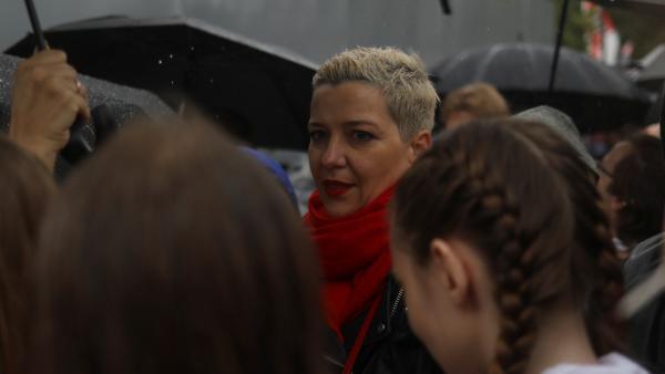 Maria Kolesnikova présente au grand rassemblement de l'opposition à Minsk, le 6 septembre 2020.