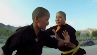 Kung-fu fighting nuns in Kathmandu, Nepal