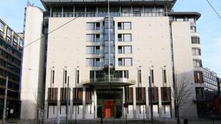 Le palais de justice d'Oslo, en Norvège.