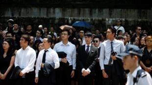 Luật sư và nhân viên ngành tư pháp tham gia biểu tình phản đối chính quyền thân Bắc Kinh, ngày 07/08/2019.