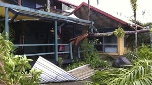 Damage to buildings caused by Cyclone Yasi in northern Queensland