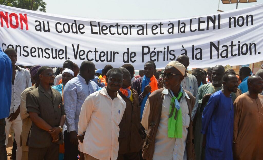 La marche de l'opposition contre le nouveau code électoral, à Niamey, le 28 septembre 2019.