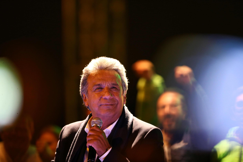 O candidato às eleições presidenciais do Equador, Lenin Moreno