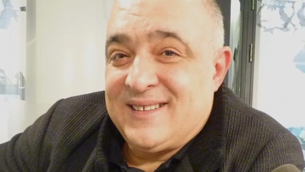 Ernest Martínez Izquierdo en los estudios de RFI