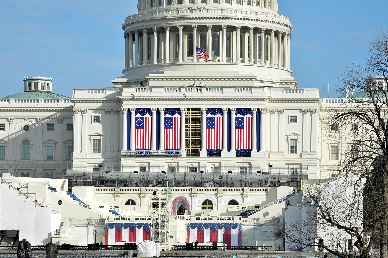 Ảnh minh họa: Quốc Hội Mỹ lúc chuẩn bị cho lễ tuyên thệ của Donald Trump. Ảnh ngày 15/01/2017.
