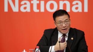 Quách Nghiệp Châu (Guo Yezhou), phó ban Đối Ngoại đảng Cộng Sản Trung Quốc tại cuộc họp báo ngày 21/10/2017 ở Bắc Kinh (Trung Quốc).