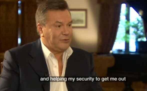 L'ancien président de l'Ukraine Viktor Ianoukovitch a remercié le président russe Vladimir Poutine, dans une interview à la BBC de lui «avoir sauvé la vie» lors de la crise qui l'a chassé du pouvoir en 2014.