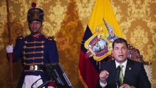 El presidente ecuatoriano Rafael Correa hablando sobre el tema del Yasuní-ITT, el pasado 15 de agosto.