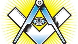 Các biểu tượng của Hội Tam Điểm: Mắt, êke, compa (DR)