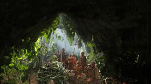 Affiche du film «Pygmées Baka, le grand virage».